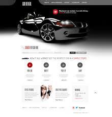 car rental website template 41070