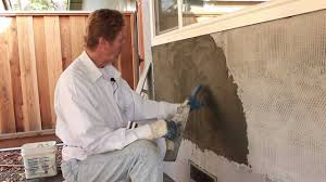 trowel stucco to look like poured concrete youtube