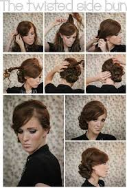 side buns for shoulder length fine hair twisted side bun updo hairstyles tutorial popular haircuts