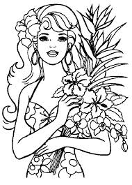 hawaiian barbie coloring netart