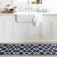 Kate Spade Kitchen Rug Scroll Tile Kitchen Rug Blue Williams Sonoma