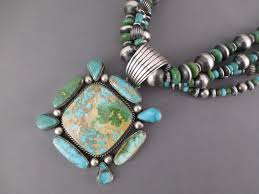 turquoise necklace earring set images 4 strand royston turquoise necklace earring set turquoise jpg