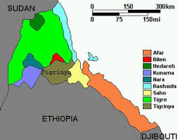 africa map eritrea map of ethnic linguistic groups of eritrea
