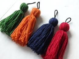 4 hmong wool tassels four large hmong hill tribe tassels from