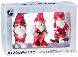 nhl detroit wings 3 pack gnome ornaments retrofestive ca