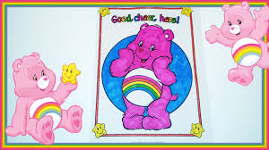 coloring corner care bear coloring cheer bear care bear