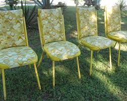 Yellow Retro Kitchen Chairs - dining chairs etsy