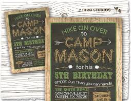 5th birthday party invitation camping invitation camping party invitation camping birthday
