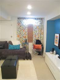 Basement Window Cover Ideas - good looking microfiber sectional sofa in basement transitional