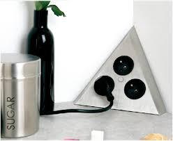 prise electrique design cuisine bloc 3 prises triangle achat vente de blocs prises électriques