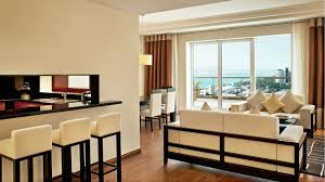 Bedroom Comfortable Bed With Smooth Grosvenor House Dubai 2 Bedroom Residence Apartments Dubai