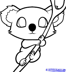 koala bear coloring page how to draw a koala for kids step by step animals for kids for