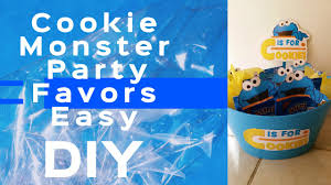 cookie monster table decorations cookie monster themed party favors diy under 15 dollar tree youtube