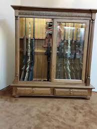 Building A Gun Cabinet Custom Gun Cabinets Amish Custom Gun Cabinets