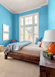 chambre peinte en bleu peinture chambre garcon tendance kirafes