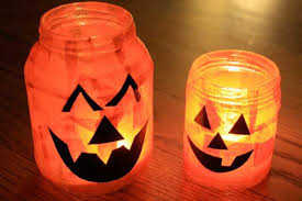 Easy Halloween Craft Projects - halloween craft recycled glass pumpkin votives marin mommies