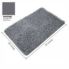 Silver Bath Rugs Amazon Com Vdomus Absorbent Microfiber Bath Mat Soft Shaggy