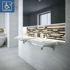 bathroom sink splash guard decolav nasira 1834 ssa solid surface ada compliant wall mount