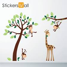 baby nursery decorative wall stickers as decorations pink purple monkey stickers for nursery images giraffe tree yosemite home decor primitive home decor