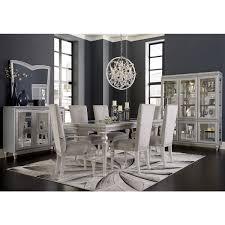 Michael Amini Dining Room Furniture Aico Michael Amini Melrose Plaza 4 Leg Upholstered Dining Table