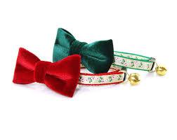 velvet christmas pet bow tie green velvet rich lustrous green soft