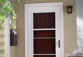 How To Hang Blinds On A Door Guide To Installing A Storm Door At The Home Depot