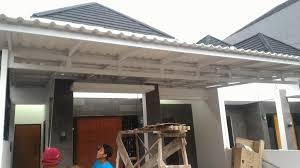 pemasangan kanopi baja ringan murah atap alderon di cipayung