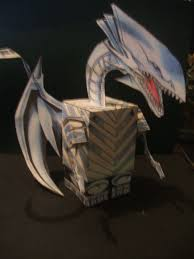 blue eyes white dragon cube by allhallowseve31 on deviantart