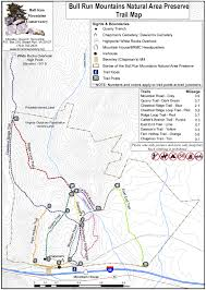 Buckeye Trail Map Bull Run Mountain Natural Area Trail Map I Know A Place I U0027ll