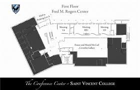 rogers center floor plan conference center saint vincent college