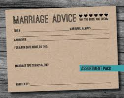 marriage advice cards for wedding wedding advice cards etsy