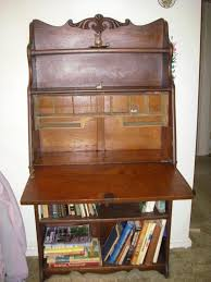 furniture rustic solid wood secretary desk with hutch and
