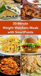 cuisine ww 30 minute weight watcher meals with smartpoints