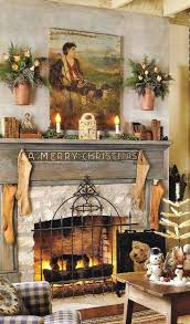 Country Living Room Decorating Ideas Rustic Christmas Fireplace U0026 Living Room Decor Ideas U2013 Easy Home