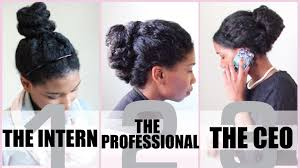 3 no heat corporate protective styles for medium length natural