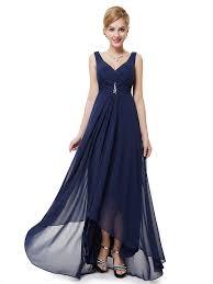 v neck v back shoulder straps navy blue vintage bridesmaid dresses