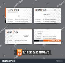 clear minimal design business card template stock vector 262466081