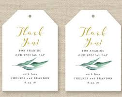 Thank You Tags Wedding Favors Templates by Gift Tag Template Etsy