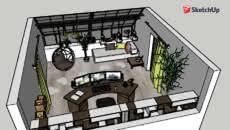 bureau complet office desk bureau 3d warehouse