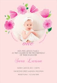 flowers frame free birthday invitation template greetings island