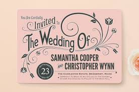 minted wedding invitations vintage blush wedding invitations by geekink design minted