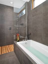 Bathroom With Shower And Bath Lg House Ensuite Shower And Bath Modern Bathroom Edmonton