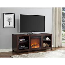 ameriwood edgewood 60 in espresso tv console with fireplace