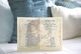 Wedding Ceremony Program Elegant And Creative Wedding Ceremony Programs Inside Weddings