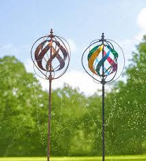 hydro wind spinner and sprinkler decorative garden accents