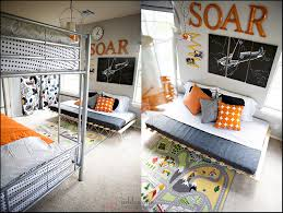 boys shared bedroom ideas orange airplanes not girly shared boy s bedroom