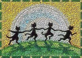 by the light of the moon halloween cat rug needlework cross stitch