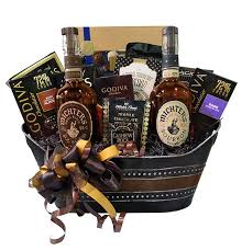 build a basket bourbon and whisky pre designed gift baskets