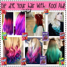 How To Wash Hair Color Out - dip dye your hair with kool aid