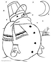 snowman coloring pages 009